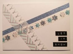 Washi teippi joulukortti let it snow Simple Christmas, Christmas Cards, Let It Snow, Let It Be, Project Ideas, Projects, Washi, Christmas E Cards, Log Projects