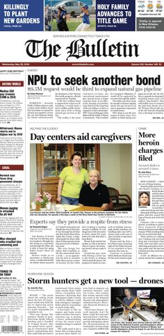 Wednesday, May 28, 2014 - Subscribe to The Bulletin today: http://www.norwichbulletin.com/subscribenow #ctnews #newlondoncounty #windhamcounty