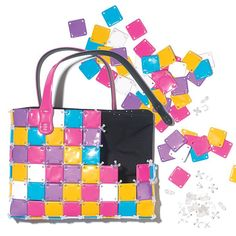 "They will have hours of fun designing their own bags and showing off their handy work! 10"" H x 12"" W x 1 1/2"" D. 100 plus pieces. Ages 8 and up. Plastic. Imported."