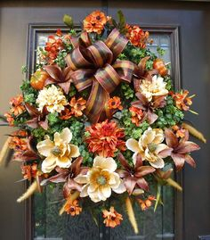 fall wreaths | ... Fall Wreaths, Autumn Wreath, Harvest, Fall Door Wreaths, Thanksgiving