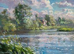 British Artist Mark PRESTON-Summer Afternoon