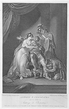 Antony and Cleopatra Act IV, Scene 4: Antony prepares for battle 1803 engraving by Charles Warren