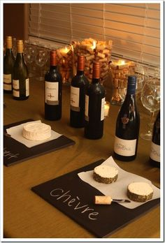 Organize, label & pace cheeses w/ wines Fall Wine and Cheese Tasting Party Wine And Cheese Party, Wine Tasting Party, Wine Cheese, Wine Parties, Antipasto, Tapas, Cheese Display, Buffet, Fromage Cheese