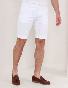 Antony Morato Plain Skinny Shorts White | Accent Clothing