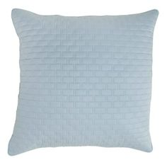Rayon from Bamboo Quilted Euro Sham in Sky