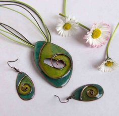 Check out this item in my Etsy shop https://www.etsy.com/listing/228903487/lifespiral-cloisonne-enamel-necklace-and