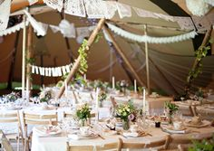 tipi wedding love the lace bunting and natural tones x Tipi Wedding, Wedding Table, Wedding Events, Rustic Wedding, Wedding Reception, Our Wedding, Dream Wedding, Hacienda Wedding, Marquee Wedding