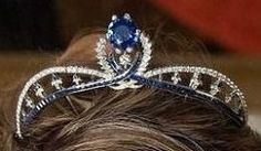 Sapphire Tiara worn by Duchess of Vendôme (Princess Philomena). The tiara once belonged to her Mother-in-law, Countess of Paris.