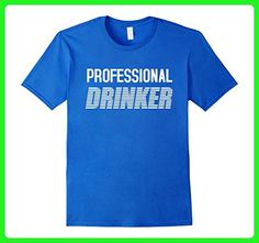 Mens Professional Drink Shirt Funny Drinking T-shirt Drunk XL Royal Blue - Food and drink shirts (*Amazon Partner-Link)