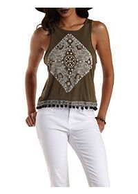 Abstract Elephant Graphic Tank Top