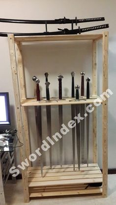 how to build a sword wall rack