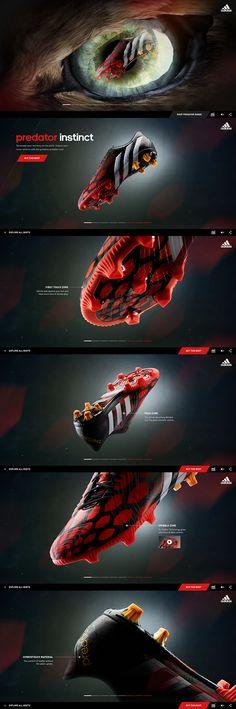 Adidas - Instinct takes over on Behance