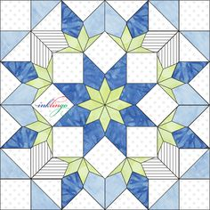 Inklingo Morse Star in Electric Quilt