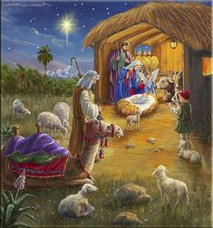 'Christ is Born' pack of Christmas cards) - Feel great knowing that of the profit from our cards goes on to fund our life-saving work. Mary Christmas, Christmas Jesus, Christmas Nativity Scene, Christmas Scenes, Vintage Christmas Cards, Christmas Art, Christmas Greetings, Silent Night Holy Night, Jesus Christus
