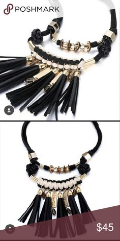 Latigra Tribal Statement Tassle Necklace *NWT* Tribal Latigra Statement Tassle Necklace *NWT*  Comes with keepsake box . Mid-weight . MUST HAVE ACCESSORY Think Vintage Online  Jewelry Necklaces