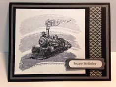Travel, Work of Art, Masculine Birthday Card, Stampin' Up!, Rubber Stamping, Handmade Cards