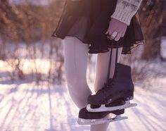 skating on the lake #delightfullychic