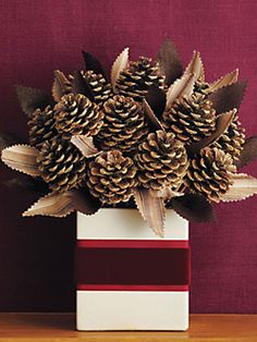 Holiday Centerpiece How-to: Pinecone Bouquet
