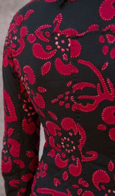 Detail from Applique Daisy High Neck Jacket