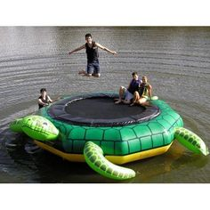 Island Hopper Turtle Jump Water Trampoline Outdoor Towable Water Tube.  Free Shipping.
