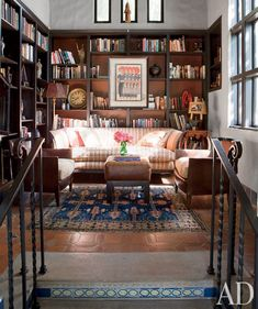 Cheryl Crow's library....could be a small house living room