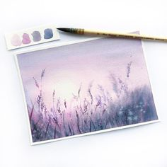 5 001 nevner J'aime, 154 kommentarer - Melissa Rechard ( . Watercolor Drawing, Watercolor Landscape, Watercolor Illustration, Painting & Drawing, Painting Inspiration, Art Inspo, Mini Toile, Amazing Art, Art Drawings