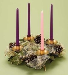 Advent Wreath with Green Accents. Candels not included. Green Advent Wreath, Advent Wreaths, Green Accents, Gold Accents, Advent Candles, First Communion Gifts, Advent Season, Christ The King, Catholic Gifts