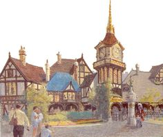 Disneyland Paris Concept Art: Peter Pan's Flight