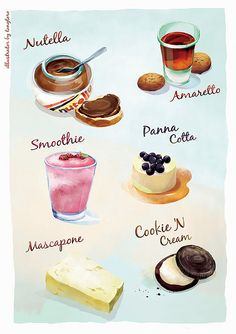 sweets and treats illustration Cute food illustration
