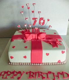 70th Birthday cake.