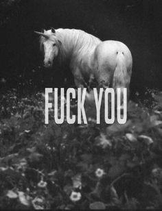 Unicorn with an attitude