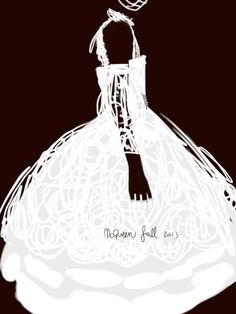 McQueen fall13.   #fashion #illustration Open Toe - Opentoeillustration.com