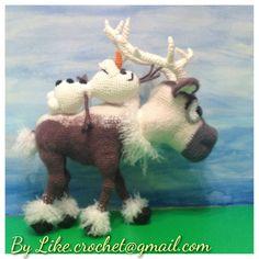Olaf & Sven of Frozen amigurumi crochet patterns