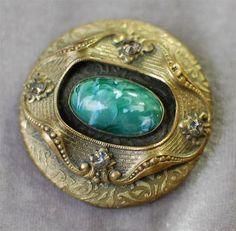 Massive Antique Victorian Art Glass Button | eBay