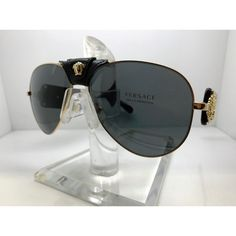 6f4a42f66136 NWT Authentic Versace Gold Pilot Aviators NWT/New With Tags Authentic  Versace Gold Pilot Aviators