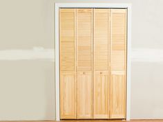 How to Install Bifold Closet Doors:  From DIYNetwork.com from DIYnetwork.com