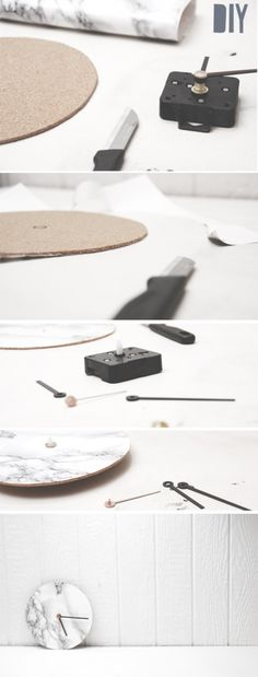 DIY MARBLE WALLCLOCK