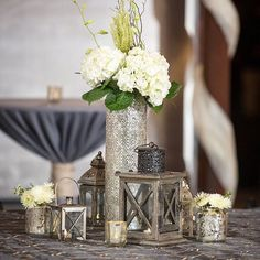 Indodecor inspiring decoration for you jakarta bogor bandung bali gorgeous gold and metallic assorted centerpieces with lanterns candles and flowers for jenna and stephens wedding junglespirit Images