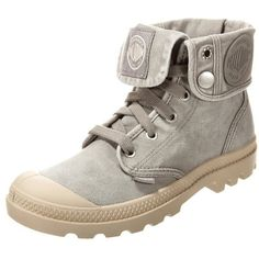 Palladium BAGGY Laceup boots concrete/putty (¥11,060) ❤ liked on Polyvore featuring shoes, light grey, foldable flat shoes, patterned shoes, round toe shoes, lace up shoes and laced shoes