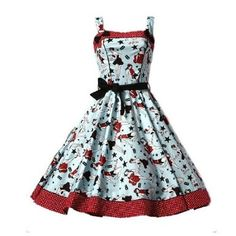 Hell Bunny Dixie - robe - style années 50 - pin up: Amazon.fr: Vêtements et accessoires