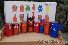 Cardboard tube animals