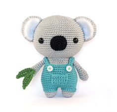 This Cute Koala loves gardening! The eucalyptus trees that he grows are perfect for sleeping and eating! He always carries some leaves in the little pocket on his dungaree, he might get hungry.  My instructions are organized and are very clear to understand. There are also high quality photos to help you along! Crochet your own cute Koala, a perfect gift for anyone!  This is a DOWNLOADABLE CROCHET PATTERN. Which you can download immediately after payment.  LANGUAGE: This pattern is written…