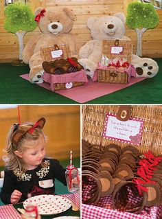 "Teddy Bear Garden Picnic: the ears on the bottom right wording - perfect... ""you better go in disguise"""