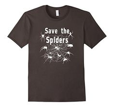 Save The Spiders fun t-shirt features a Web with spiders. Spiders are necessary for our eco system and controlling pests. fun gift idea, Five colors and various sizes.