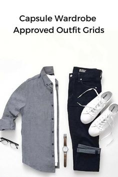 minimal outfit grids for men #mens #fashion #style