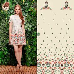 O Vestido A Mexicana se inspira na natureza e cultura do México. Na estampa…