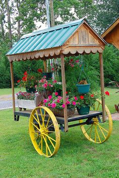Flower Cart.  I wish I had this.