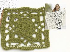Crochet DROPS blanket with crochet squares in Eskimo. Free pattern by DROPS Design.