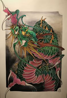 Amsterdam TATTOO 1825 KIMIHITO Dragon Art work www.tattoo1825.com
