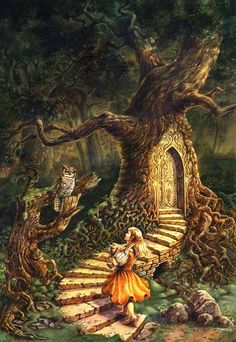 magic tree - by Jana Souflova | Featured Artist on the Fantasy Gallery